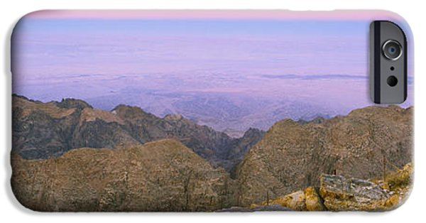 Jordan iPhone Cases - Sea Viewed From A Mountain Top At Dusk iPhone Case by Panoramic Images