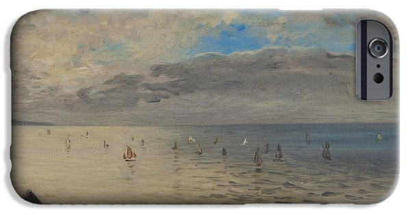 Sailing iPhone Cases - Sea Viewed from the Heights of Dieppe iPhone Case by Ferdinand Victor Eugene Delacroix