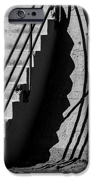 Sea Wall Shadow iPhone Case by Perry Webster
