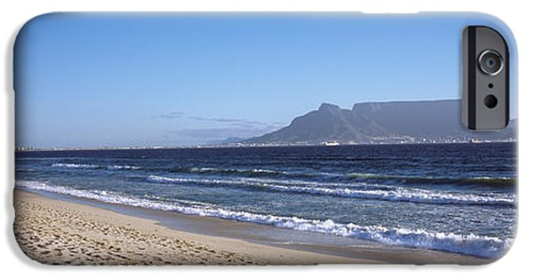 Cape Town iPhone Cases - Sea With Table Mountain iPhone Case by Panoramic Images