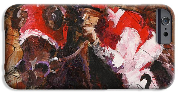 Horse Racing iPhone Cases - Seabiscuit iPhone Case by Ron and Metro