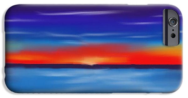 Abstract Seascape Pastels iPhone Cases - Seacape Beauty iPhone Case by Jerod Roberts