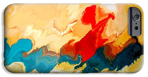 Abstract Seascape iPhone Cases - Seacape iPhone Case by Joseph Ferguson