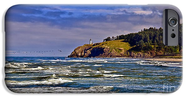 Cape Disappointment iPhone Cases - Seacape iPhone Case by Robert Bales