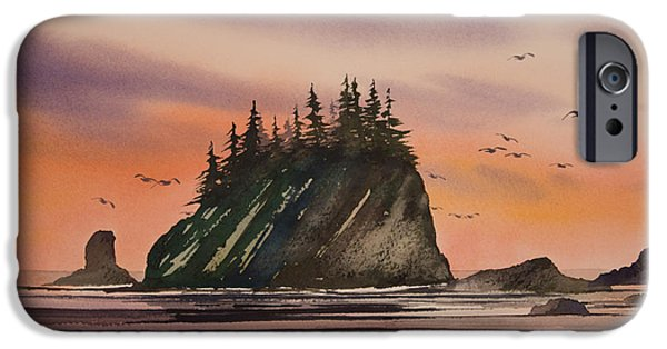 Seacoast iPhone Cases - Seacoast at Dawn iPhone Case by James Williamson