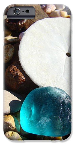 Seaglass art prints Rock Garden Sand Dollar iPhone Case by Baslee Troutman Coastal Art Prints