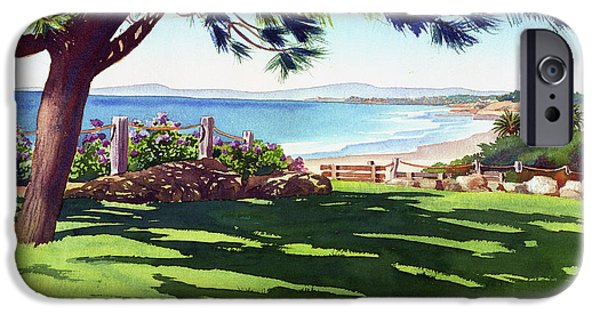Pines iPhone Cases - Seagrove Park Del Mar iPhone Case by Mary Helmreich