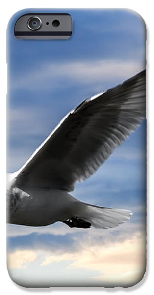Seagull and Clock Tower iPhone Case by Bob Orsillo