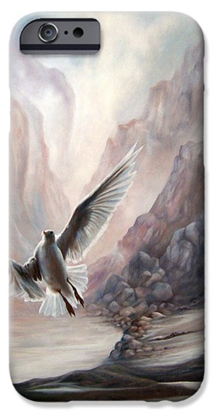 Flying Seagull Paintings iPhone Cases - Seagull iPhone Case by Glenda Stevens