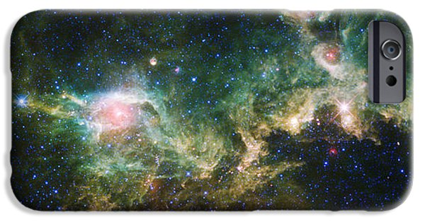 Cosmic iPhone Cases - Seagull Nebula iPhone Case by Adam Romanowicz