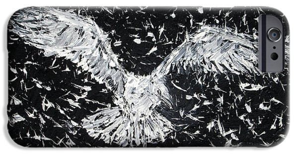 Flying Seagull Paintings iPhone Cases - SEAGULL - oil portrait iPhone Case by Fabrizio Cassetta