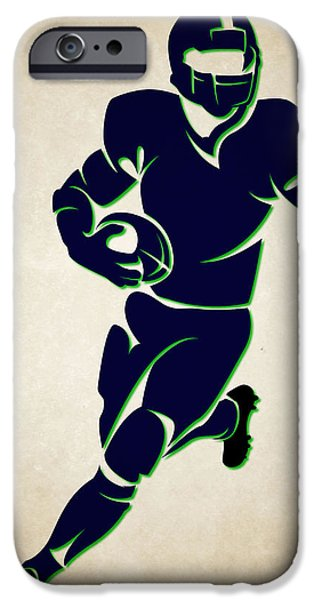 Seattle Seahawks iPhone Cases - Seahawks Shadow Player iPhone Case by Joe Hamilton
