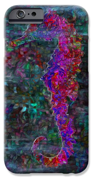 Sea Watch iPhone Cases - Seahorse 4 iPhone Case by Jack Zulli