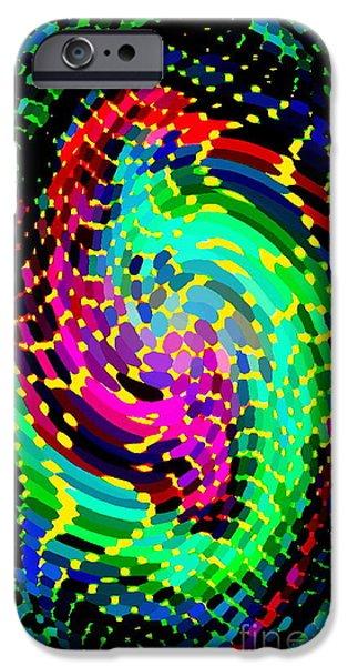 SEAHORSE PHONE CASE ART COLORFUL DYNAMIC ABSTRACT GEOMETRIC DESIGN BY CAROLE SPANDAU 130  CBS ART iPhone Case by CAROLE SPANDAU