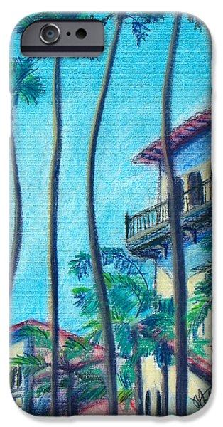 Beach Landscape Pastels iPhone Cases - Seal Beach City Hall iPhone Case by Michael Foltz