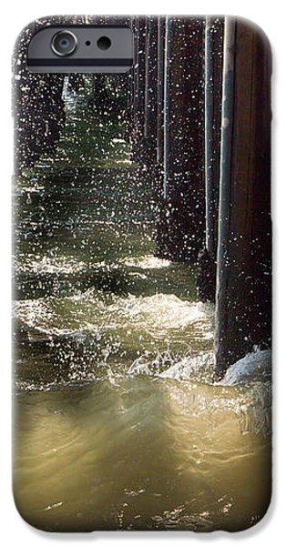Seal Beach Pier Surf iPhone Case by Heidi Smith