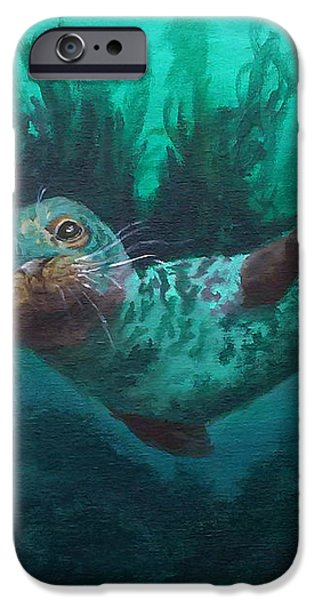 Seal iPhone Case by Kathleen Kelly Thompson
