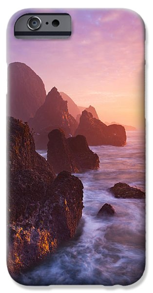 Newport Photographs iPhone Cases - Seal Rock Sunset iPhone Case by Darren  White