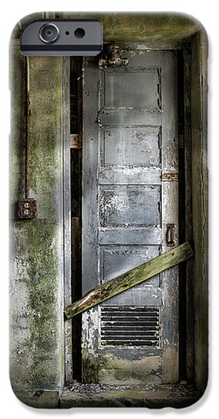 Science Fiction Photographs iPhone Cases - Sealed door - The Old door iPhone Case by Gary Heller