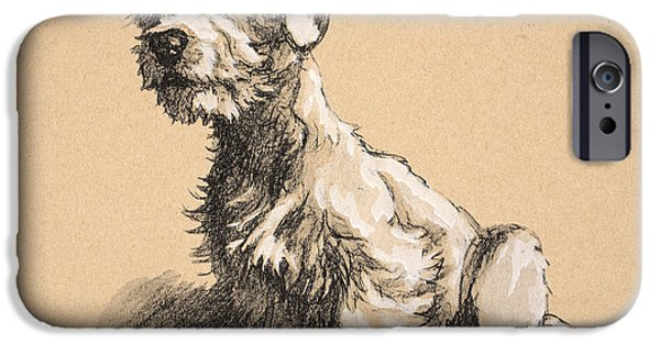 Puppies iPhone Cases - Sealyham iPhone Case by Cecil Charles Windsor Aldin