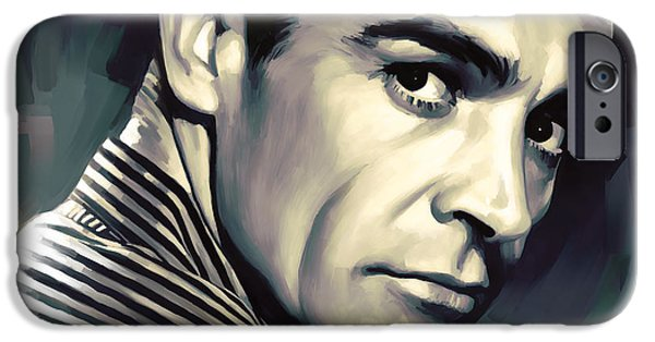Celebrities Art iPhone Cases - Sean Connery Artwork iPhone Case by Sheraz A