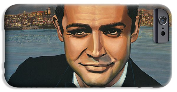 Forever iPhone Cases - Sean Connery as James Bond iPhone Case by Paul Meijering