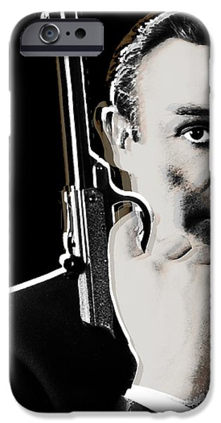 Sean Connery James Bond Square iPhone Case by Tony Rubino