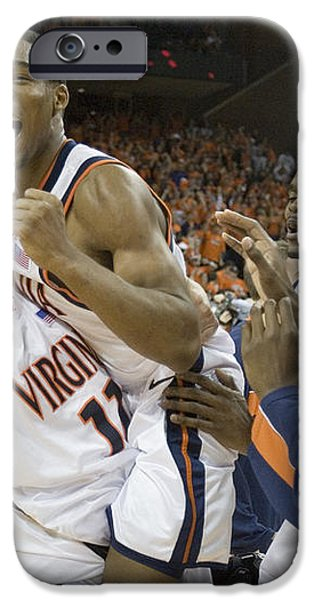 Sean Singletary and Lars Mikalauskas Celebrate UVA Win Over Arizona iPhone Case by Jason O Watson