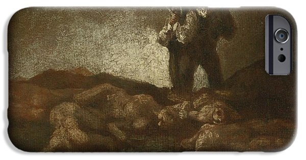 The Followers iPhone Cases - Searching Among The Corpses iPhone Case by Celestial Images