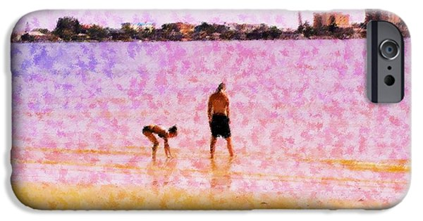 Figure iPhone Cases - Searching For Shells iPhone Case by Florene Welebny