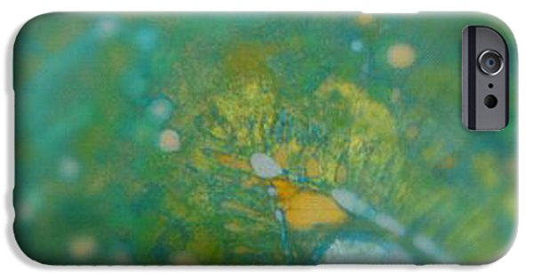 Pastel Tapestries - Textiles iPhone Cases - Searching for Teal 001 iPhone Case by Lori Russell