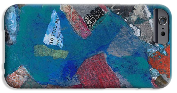 Abstract Seascape iPhone Cases - Searching for the Orient iPhone Case by Catherine Redmayne