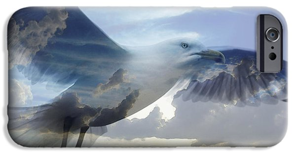 Pastel iPhone Cases - Searching The Sea - Seagull Art By Sharon Cummings iPhone Case by Sharon Cummings