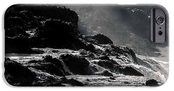 Moonscape iPhone Cases - Seascape - 9173 iPhone Case by Wally Hampton