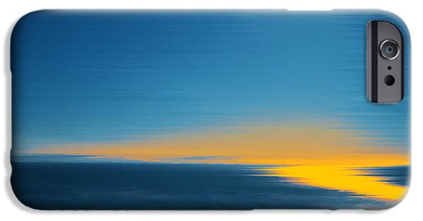 Coastal Decor Digital Art iPhone Cases - Seascape At Sunset iPhone Case by Ben and Raisa Gertsberg