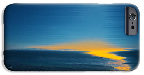 Coastal Decor Digital iPhone Cases - Seascape At Sunset iPhone Case by Ben and Raisa Gertsberg