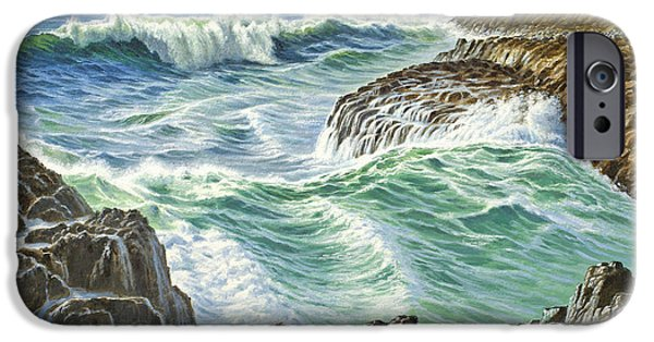 Oregon Coast iPhone Cases - Seascape-Devils Churn-Oregon iPhone Case by Paul Krapf