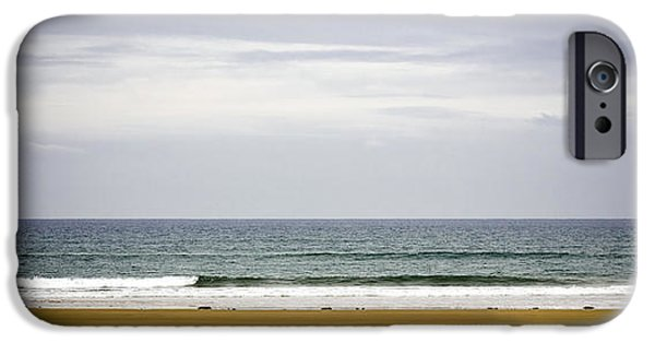 Rainy Day iPhone Cases - Seascape iPhone Case by Frank Tschakert