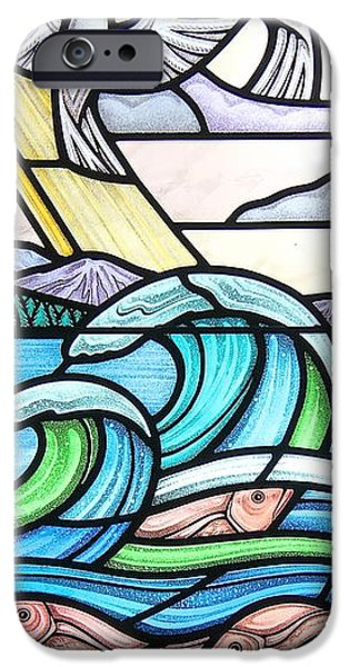Sea Birds Glass iPhone Cases - Seascape iPhone Case by Gilroy Stained Glass