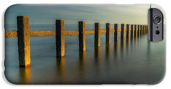 Coastline Digital Art iPhone Cases - Seascape Wales iPhone Case by Adrian Evans