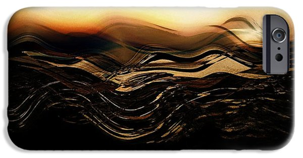 Abstract Seascape iPhone Cases - Seascapes 4 iPhone Case by Amanda Moore