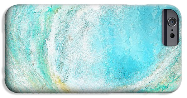 Abstract Seascape iPhone Cases - Seascapes Abstract Art - Mesmerized iPhone Case by Lourry Legarde