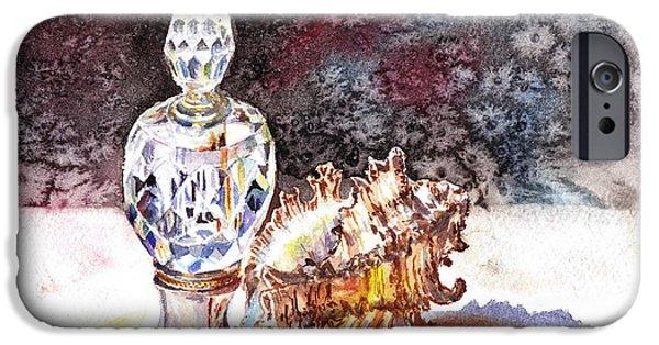 Old Masters iPhone Cases - Seashell And Crystal Still Life iPhone Case by Irina Sztukowski