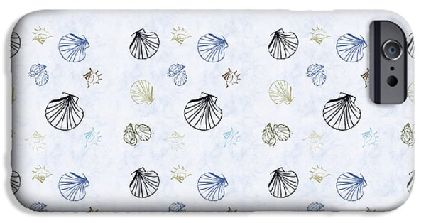 Shells iPhone Cases - Seashell Pattern iPhone Case by Christina Rollo