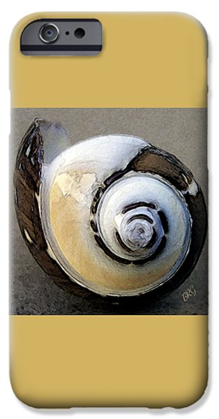 Beige iPhone Cases - Seashells Spectacular No 3 iPhone Case by Ben and Raisa Gertsberg
