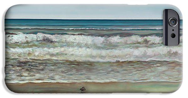 Sea iPhone Cases - Seashore Panorama iPhone Case by Jennifer Lycke