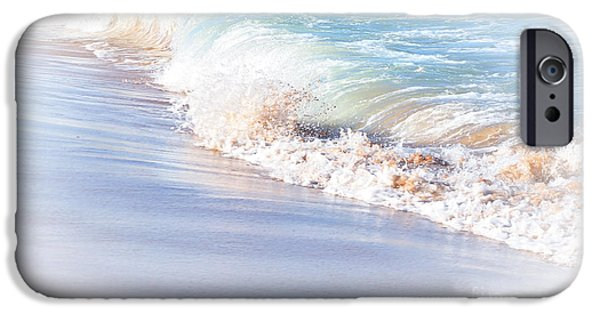 Reflections Of Nature iPhone Cases - Seashore Pastel iPhone Case by Kaye Menner
