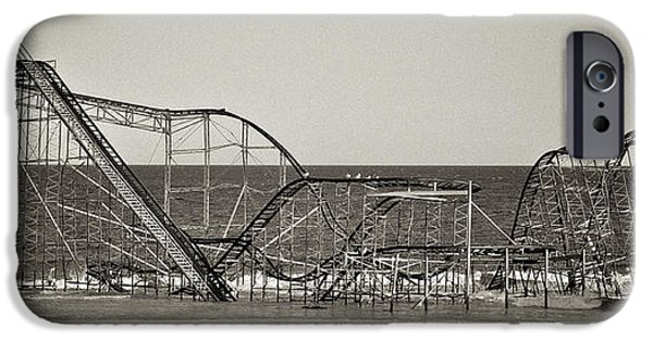 Jet Star iPhone Cases - Seaside After Sandy iPhone Case by Mark Miller