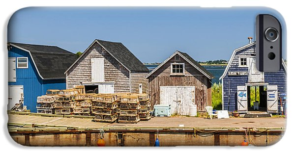 Village iPhone Cases - Seaside dock of Prince Edward Island iPhone Case by Elena Elisseeva