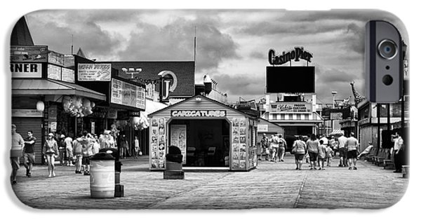 Seaside Heights iPhone Cases - Seaside Heights Boardwalk infrared iPhone Case by John Rizzuto